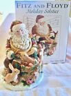 Fitz and Floyd Holiday Solstice Figurine Music Box Santa Claus Animals Musical