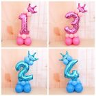 16pcs set Number Foil Balloons 32 inch Digit Helium Ballons Birthday Party Decor