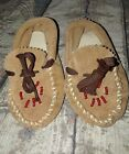 Native American leather beaded baby moccasins
