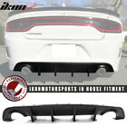 Fits 15 21 Dodge Charger SRT OE Style Rear Bumper Diffuser Painted Matte Black