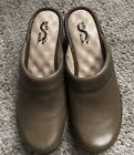 Womens Shoes Camel Color Mules Soft Walk Open Heel 7N NWT