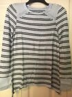 Justice Long Sleeve Girls Blue Striped Top Size 16