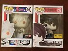 FUNKO Pop Exclusives Bleach Hollow Ichigo #96 and Deathnote L with Cake #219