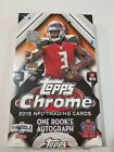 2015 Topps Chrome Football Hobby Box Factory Sealed by Topps w 1 autograph