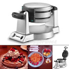 Iron nonstick Commercial Gourmet Round Double Belgian Waffle Maker machine bake