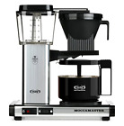 Coffee 10 Cup  Brewer with Glass Carafe Polished Silver Moccamaster KBG 741