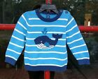 Old Navy infant boy striped knit whale sweater 18 24 months cotton long sleeve