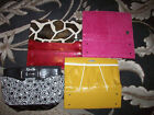Miche Classic Shell Lot of 4 Pink Faux Ostrich Embossed Yellow Daisy Excellent
