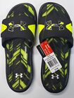 Under Armour Ignite Banshee II Slide Sandals Black High Vis Yellow Mens Size 11