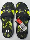 Under Armour Ignite Banshee II Slide Sandals Black High Vis Yellow Mens Size 9