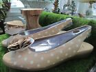 SANDALS By AEROSOLES shoes womens Size 11M Tan Polka dot with FLOWER New BOX