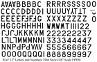 RAF Letters  Numbers 1946 12 Black 1 48 decals Fantasy Printshop 890BK