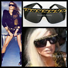 RARE MAGAZINE FEATURED AUTHENTIC CHANEL VINTAGE 90s HUGE CHAIN LINK SUNGLASSES