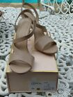 Kay Unger Phoebe Collection Nude 11M Cossack Sandals Worn once