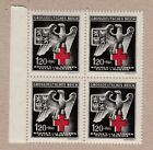 Germany 1943 Bohemia  Moravia Red Cross block of 4 MNH stamps w margin
