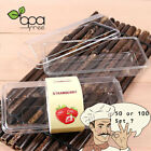 50 100set Clear Durable Cake Bread Plastic Box Container without Label DD