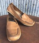 Merrell Sailix Ballet Flats Tan Leather Slip On Loafers Womens 10 Moc Shoes