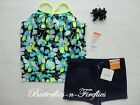 NWT Gymboree 3pc Outfit Set Gymgo Bra Tank Twill Shorts Hair Bows Navy Girls 5