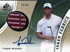 TIGER WOODS AUTO - INKED FABRICS & TOUR GEAR COMBO- JACK NICKLAUS- GREAT COLORS