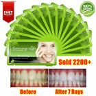 28pc Teeth Whitening Stirps 30 Minutes Treat 14pack White Strips Green Natural