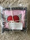 NEW Boutique Best Of Chums Cotton Winged Heart Bodysuit Pink 6 mos Valentine 25
