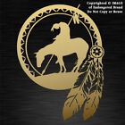 Native American End of the Trail with Indian Horse Dream Catcher decal sticker