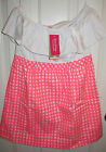 Lilly Pulitzer Athens Dress in Yummy Melon Painterly Gingham Size M NWT