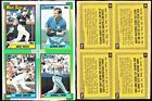 LOT 2 1990 TOPPS WAX BOX PANELS GEORGE BRETT, ANDRE DAWSON, WADE BOGGS, EVANS