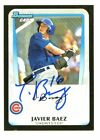 JAVIER BAEZ SIGNED 2011 BOWMAN DRAFT ROOKIE CARD CHICAGO CUBS AUTO E