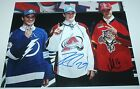 Nathan Mackinnon Jonathan Drouin Aleksander Barkov signed NHL Draft 11x14 photo