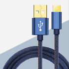 USB Power Charger Charging Data Sync Jeans Cable Cord For BLU Vivo 6 Samrtphone
