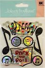 Jolees Boutique Rock and Roll Music Dimensional Scrapbook Sticker