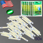 50Pc Fishing Glowing Stick Fluorescent Green Night Light Float Straight in US