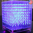 3D LED Light Cube Kit 8x8x8 Music Spectrum Animation PCB Board Infrared Remote