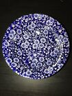 Queens Calico Blue Chintz Flower Cereal Bowl Made In Malaysia