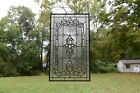 Stunning Handcrafted All Clear stained glass Beveled window panel 20 x 3425