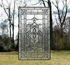 2025 x 34 Stunning Handcrafted All Clear stained glass Beveled window panel
