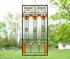 Stained glass Clear Beveled window panel FRANK LLOYD WRIGHT TREE OF LIFE 17 34
