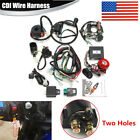 50cc 70cc 110cc 125cc Full Electrics Wiring Harness CDI ATVRemote Start Switch