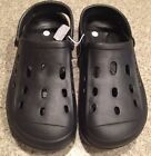 Youth Garden Shoes Slip On Croc Style Clogs With Movable Straps Black