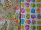 Assorted Sizes Styles Vinyl FlannelBack Easter Tablecloths Multi color Nantucket