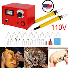 5 Multifunction Crafts Laser Wood Burning Pen Tool Pyrography Machine Set Kit