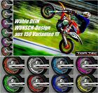 Wheel Sticker Supermoto MZ 125 SM SX RT 660 Baghira Mastiff Rim Stripes Decals