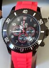 Men's Watch Ice 102141 Chronograph Red Big Silicone Men's Watch