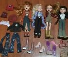 Bratz Doll figure lot of (4) Fully Clothed with clothes + Accessories - LOOK
