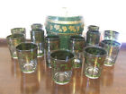 Cera Golden Grapes Mid Century Modern Barware Set of 15 Glasses