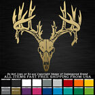 Huge Deer Skull Huge Antlers Horn Whitetail Mule Rifle Bow Hunting Decal Sticker