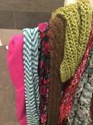 Lot of 10 Stylish Scarves Assorted Styles and Types