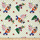 Disney Mickey Friends Trim the Tree 100 cotton Fabric by the yard