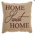 HOME SWEET HOME Burlap Pillow Country Primitive Rustic Accent Throw Cushion